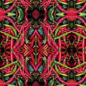 Pepper  Kaleidoscope Collage