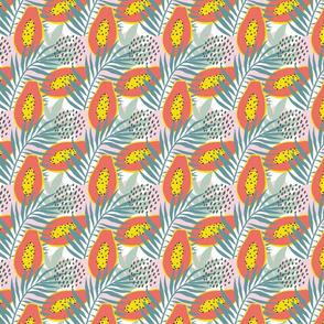 Exotic tropical papaya print