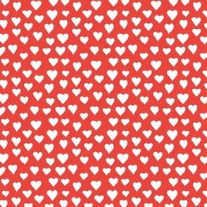 Little sweet lovers hand drawn hearts minimalist boho design nursery valentine red