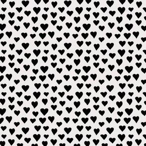Little sweet lovers hand drawn hearts minimalist boho design nursery valentine off white black