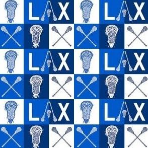 Blue LAX Lacrosse 1 inch squares