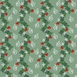 Geometric Christmas  holly garlands