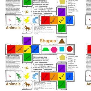 DIY Shapes & Animals Game by DulciArt,LLC