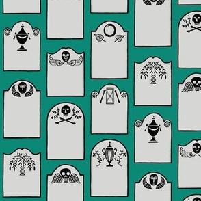 tombstones - teal