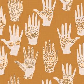 Symbolic hands PUMPKIN