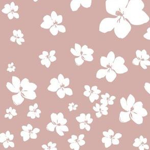 Magnolia Little Gem - Dusty Pink - 1 yard panel