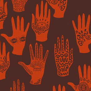Symbolic Hands Rouge