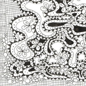 crazy lily pad tangle