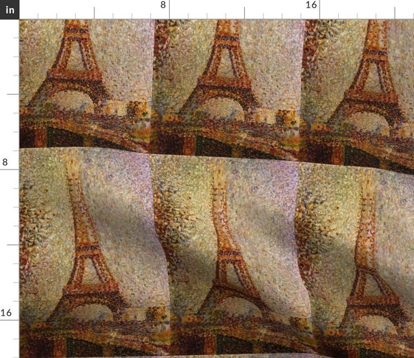 Georges Seurat The Eiffel Tower 1889 Vintage Print