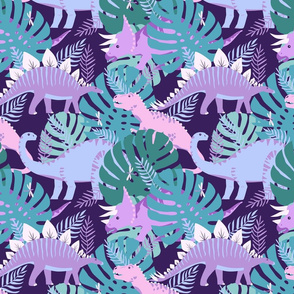 Jungle Dinosaurs - Purple