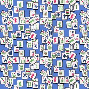 Mahjong  Tiles - Blue