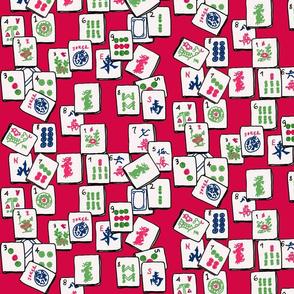 Mahjong Tiles - red