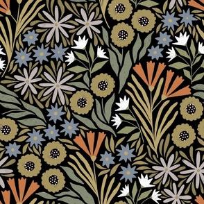 Adeline floral (dark)