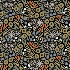 Adeline floral (dark) (small scale)