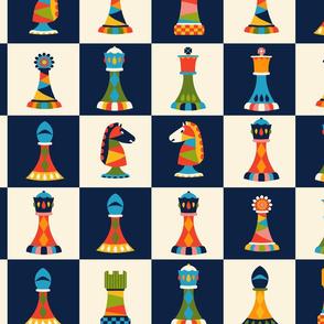 Retro Chess Pieces