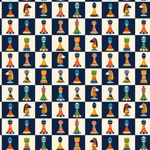 Retro Chess Pieces Smaller