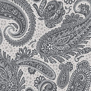 small Paisley Positivity grey shades