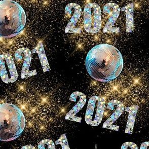 Happy New Year Holographic 2021