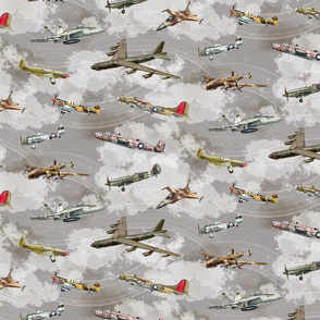 Military Planes in a Gray Sky