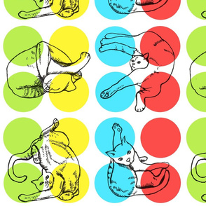 Jumbo Twisted Cats Playing Twister
