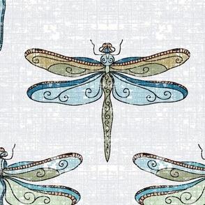 dragonflies - even cooler tones