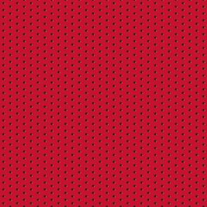 Black rose polka dots on Red