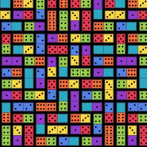 Neon Dominoes - Large black
