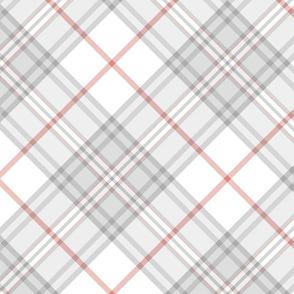 """Southdown tartan - 10"""" white diagonal"""