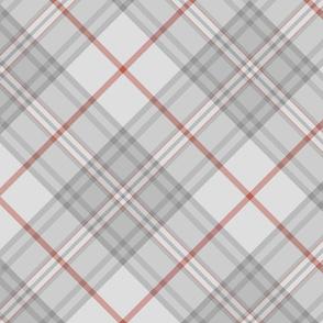 """Southdown tartan - 10"""" pale grey diagonal"""