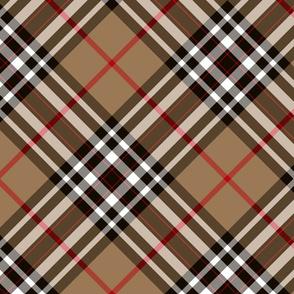 """Southdown tartan - 10"""" tan diagonal"""