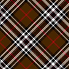 """Southdown tartan - 10"""" brown diagonal"""