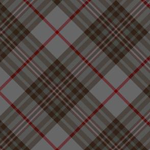 """Southdown tartan - 10"""" grey diagonal"""