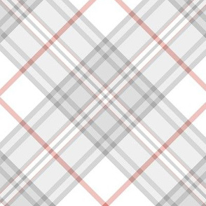 """Southdown tartan - 6"""" white diagonal"""