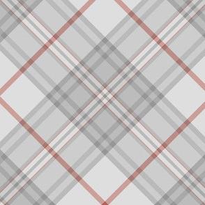 """Southdown tartan - 6"""" pale grey diagonal"""