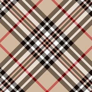"""Southdown tartan - 6"""" beige diagonal"""