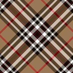 """Southdown tartan - 6"""" tan diagonal"""