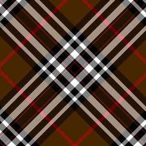 """Southdown tartan - 6"""" brown diagonal"""