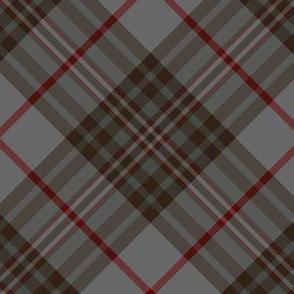"""Southdown tartan - 6"""" grey diagonal"""