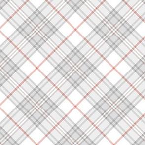 """Southdown tartan - 3"""" white diagonal"""