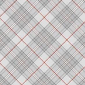 """Southdown tartan - 3"""" pale grey diagonal"""