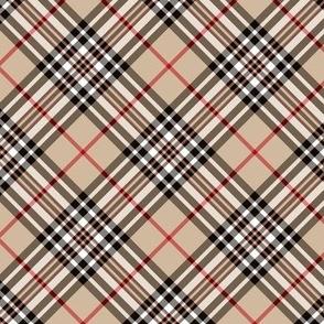 """Southdown tartan - 3"""" beige diagonal"""