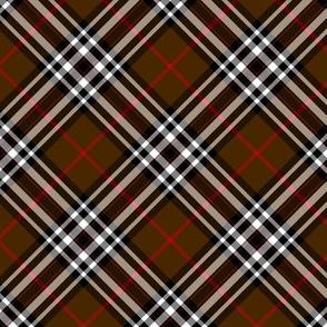 """Southdown tartan - 3"""" brown diagonal"""
