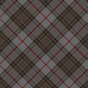 """Southdown tartan - 3"""" grey diagonal"""