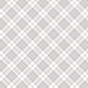 """Southdown tartan - 1"""" white diagonal"""
