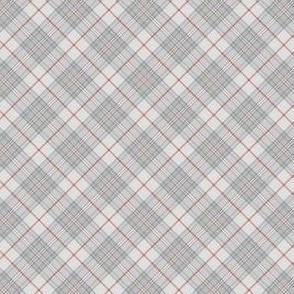 """Southdown tartan - 1"""" pale grey diagonal"""