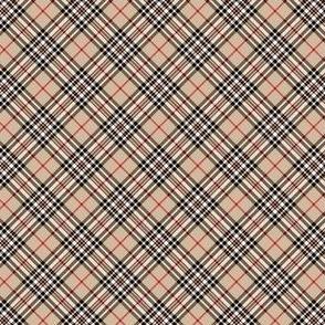 """Southdown tartan - 1"""" beige diagonal"""
