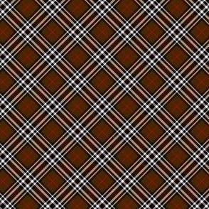 """Southdown tartan - 1"""" brown diagonal"""