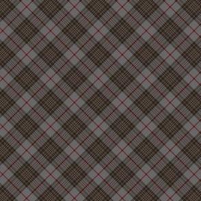 """Southdown tartan - 1"""" grey diagonal"""