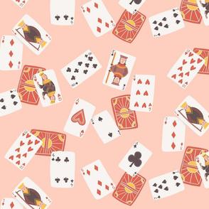 Playing Cards Game Night - pink - larger scale