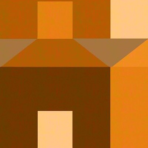 Tessellating Houses in Monochrome Brown